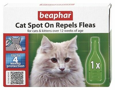 Beaphar Cat Spot On Repels Fleas on Cats and Kittens Flea & Tick Prevention