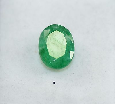 Good Looking 6.45 Ct Oval Shape EGL Certified Green Emerald Loose Gemstone