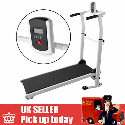 Folding Mini Mechanical Fitness Running Machine Treadmill Exercise Incline
