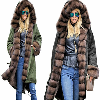 THICKEN WARM LONG HOODED Womens COAT Winter PARKA Ladies JACKET New !