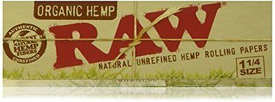 Raw Unrefined Organic 1.25 1 1/4 Size Cigarette Rolling Papers Full Box Of 24