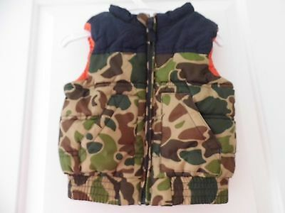 Cotton On Baby Boy Puffa Camouflage Vest Size 1 Euc
