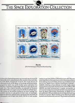 1994  Tuvalu and Cook Islands  25th Anniversary Moon landing mint 2 pages