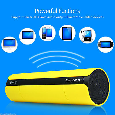 Bluetooth Speaker Wireless NFC LCD pantalla FM Radio Altavoz Portátil AUX Stereo
