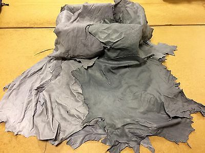 20 Pieces Of Grey Genuine Gloving Leather. Genuine Leather. Min Size 1.6 Sq Ft