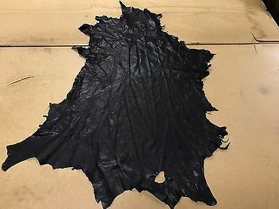 5 Sq Ft Black Genuine Leather Skin / Hide