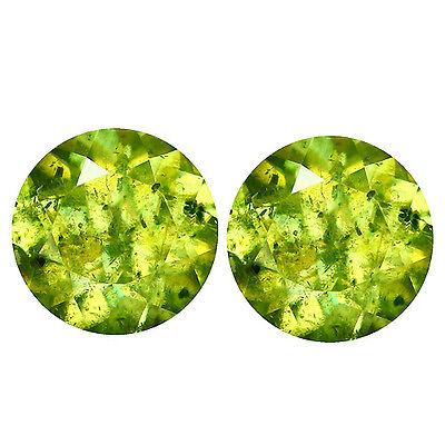 1.18Ct Outstanding Round cut 5 x 5 100% Natural Rarest Green Sphene-Titanite