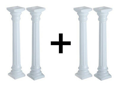 "Wilton New Cake Decorations Roman Columns 13.75"" White (2-Pack)"