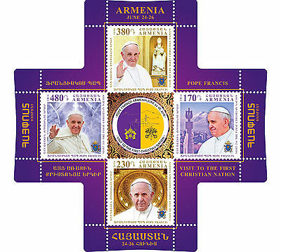 Armenia MNH** 2016 Cross stamp Pope Francis visit to Armenia unusual stamp