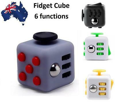 Fidget Cube Dice Click Spin 3.3cm Anxiety Toy Stress Relief Focus 6 Functions