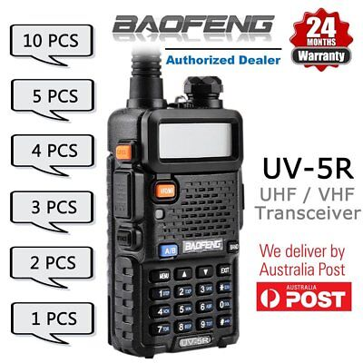 Baofeng UV-5R Black 136-174/400-520Mhz FM Walkie Talkie Radio  - Bundle AU
