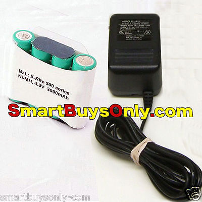 X-Rite Power Supply and NiMH Battery Pack for Xrite 500 504 508 518 520 528 530