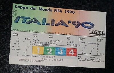 Italia 90 Original 1990 world cup ITALY v URUGUAY   ticket