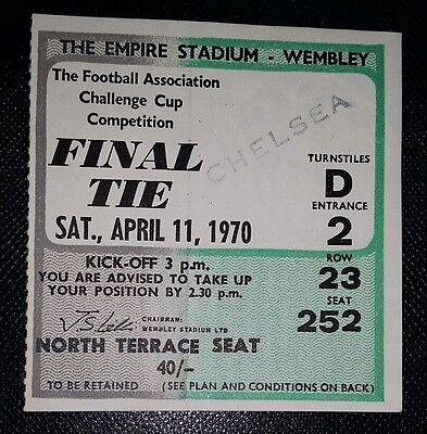 1970   fa cup final LEEDS UNITED v CHELSEA   original match ticket Very good