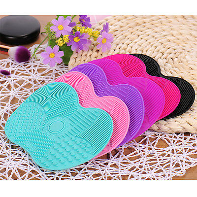 Colorful Makeup Brush Cleaner Pad Silicone Washing Scrubber Board Cleaning Mats