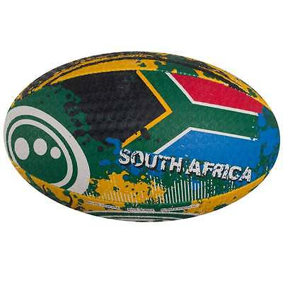 Optimum Sport Hand Stitched Rubber Outer Balanced Weight South Africa Rugby Ball
