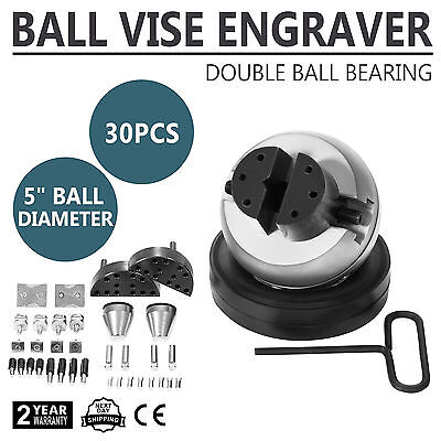 Standard Block Ball Vise Engraving Jewellers Tool Full 32 Piece Attachment Set
