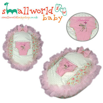 Personalised Pink Frilly Meadow Floral Bambi Baby Bean Bag (NEXT DAY DISPATCH)