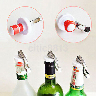1XBottle Stopper Sealed Red Wine Plug Stainless Steel Reusable Cap Kitchen Tool^