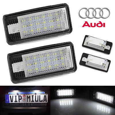 2 x 18 LED Rear License Number Plate Light Audi Canbus For Audi S3 A4 A6 S6