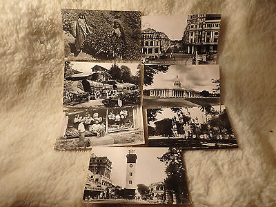 @ POSTCARDS x 7 - CEYLON - TEA PICKING - TOWN HALL - COLOMBO - QUEEN STREET  (D)