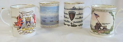 A Collection of 4 World War Two  Commemorative Mugs