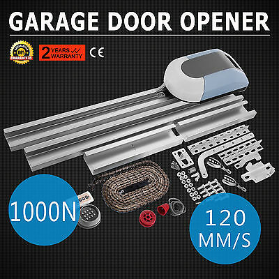 Garage Door Opener Operator Gate 1000N Automatic 2 Remote Controls Electric