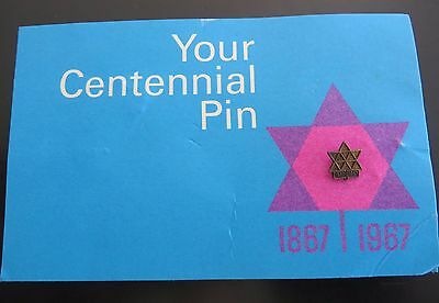 Canada 1967 Centennial Pin (on a commemorative card)
