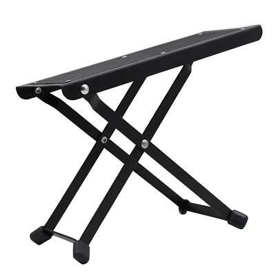 Durable Metal Guitar Foot Rest Stand for Guitar Practicing Black 25.8cm