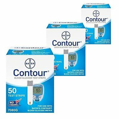 Test Strips 50 count Bayer Contour Blood Glucose Diabetic Test Strips 2/2018!