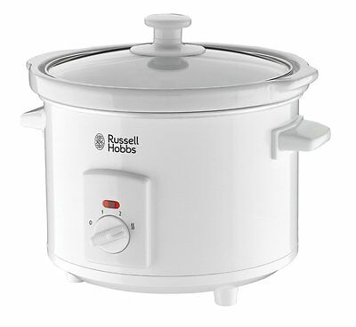 New Russell Hobbs 2.5 Litre Compact Slow Cooker In White 19780