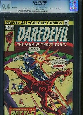 Daredevil #132 CGC 9.4 Type 1A U.S Published U.K Pence cover price Variant