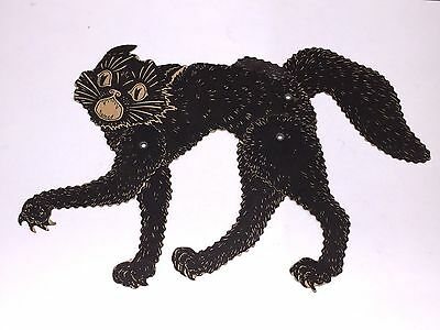 Vintage 1930's Beistle Halloween Articulated Black Cat RARE