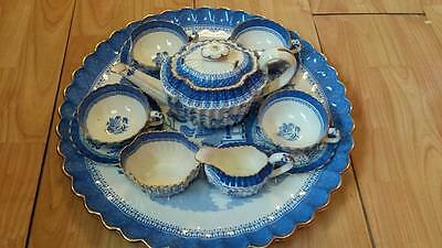Antique Spode Copeland Blue Mandarin Cabaret set *some A.F*