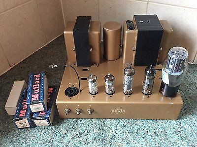 Leak TL 12 Plus Valve Amplifier: Early BBC Specification Model Good Working Con!