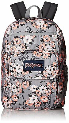 JanSport Backpack NEW School Bag  - Digital Student Coral Sparkle Pretty Posey