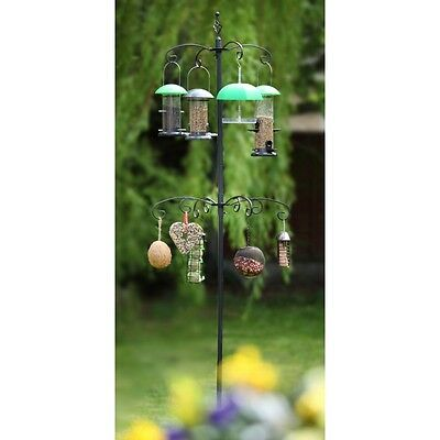 Multi Bird Feeder Station by Tom Chambers - Seeds, Nuts, Fat Balls & Water