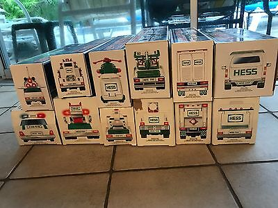 Hess Collectible Toy Truck Collection 1993-2004 With Boxes