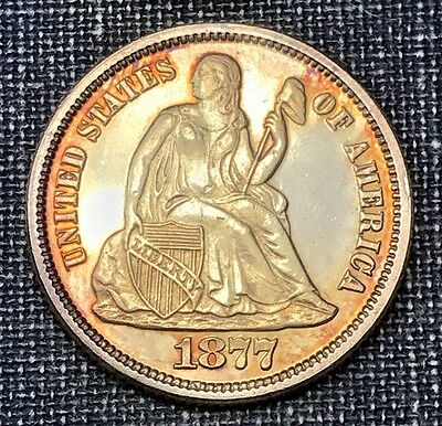 1877 Proof Seated Liberty Dime
