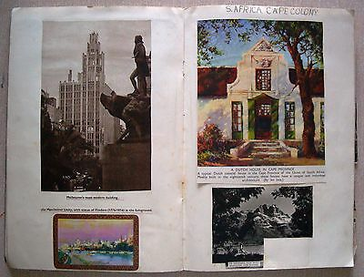 1935 COMMONWEALTH SCRAPBOOK lively school Geography project? SEE PICTURES VGC