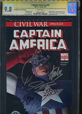 Captain America #25 CGC 9.8 Marvel Comics Wizard World 2007 Con Edition Sign+ 6