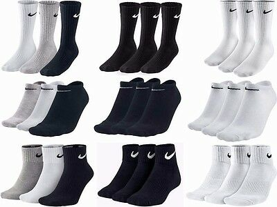 Nike Socks Genuine Mens Woman Unisex Long Black White Sport  Socks