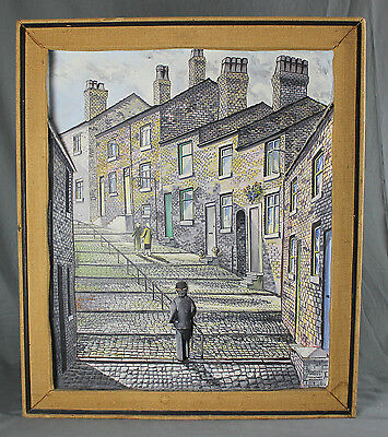 20th Century Oil Painting Illusion Collage Crowther Street Stockport N G Walker