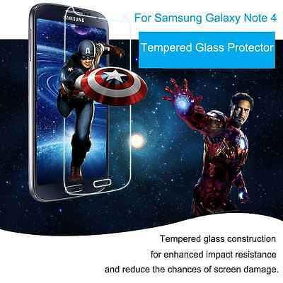 Tempered   Glass   Screen Protector For Samsung Note4  9H Clear Ultra Thin