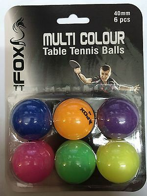 Fox Multi-coloured Table Tennis Balls
