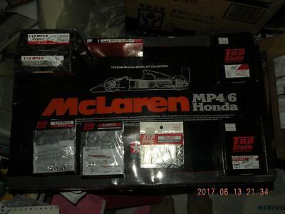Tamiya 1/12 F1 Mclaren Mp4/6 Honda Super Kit + Top Studio Full Trans Kit Senna