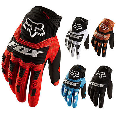 Full Finger  Motorcycle Gloves Cycling Bicycle MTB Bike Riding Gloves Fox