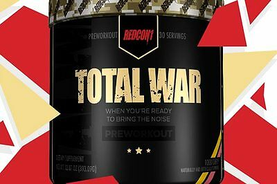 Redcon1 TOTAL WAR - PRE WORKOUT (Various flavors) 415g
