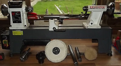 Very Good Axminster Awsl Multi Speed Wood Turning Lathe And Accesories