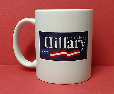New in Box ~ Hillary Clinton for US Senate Coffee Mug Cup ~ Free Shipping